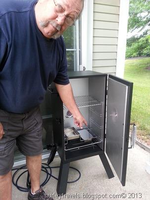 Jerry's new smoker.