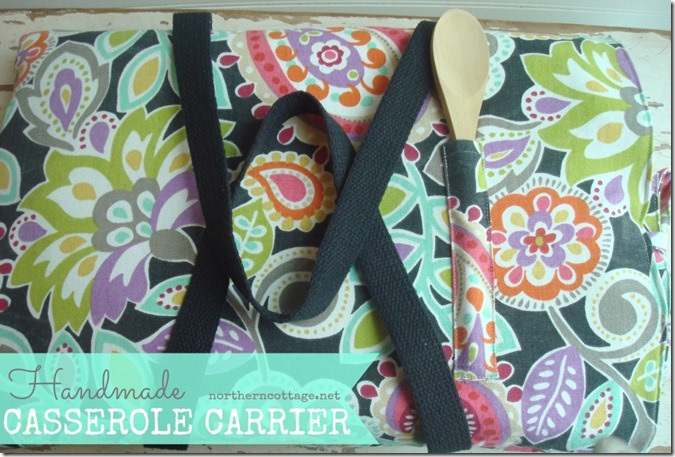 handmade casserole carrier @NorthernCottage.net
