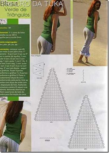 blusa triangulo a