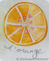 Watercolour Orange