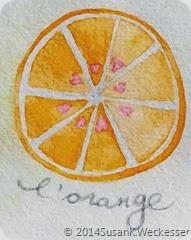 Watercolour Orange