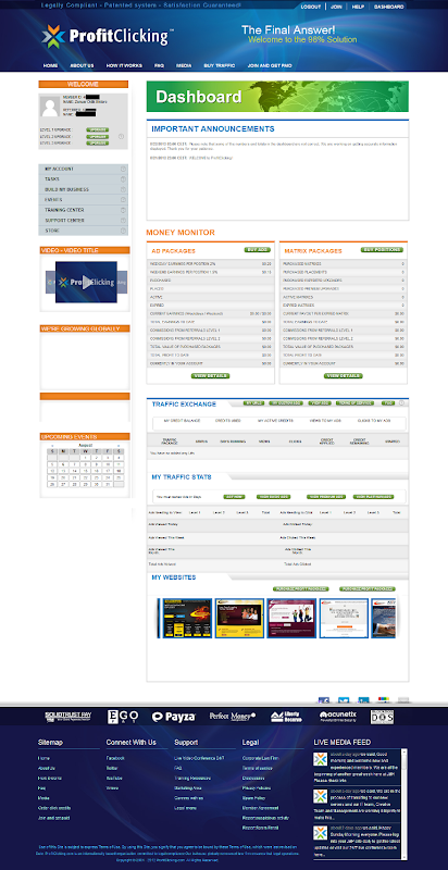 tampilan halaman dashboard