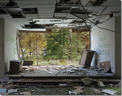 Arnold Nursing Home, 7 Mile Road; photograph by Andrew Moore from <i>Detroit Disassembled</i>, just published by Damiani and the Akron Art Museum. For a slide show of Moore's photographs, see the NYR blog, blogs.nybooks.com.<br />