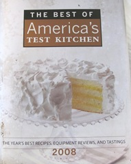 Cape Cod Columbus weekend 2012..Sat. Americas test kitchen cookbook