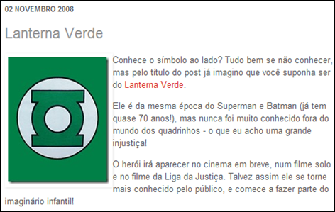 Lanterna Verde Símbolo 2008