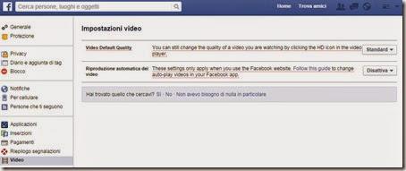 Disattivare funzione autoplay di Facebook