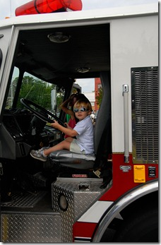 troy in fire truck