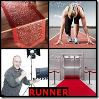 RUNNER- 4 Pics 1 Word Answers 3 Letters
