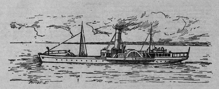 Vapor ARES- Grabado de la revista CORUÑA MODERNA. Año 1905.bmp
