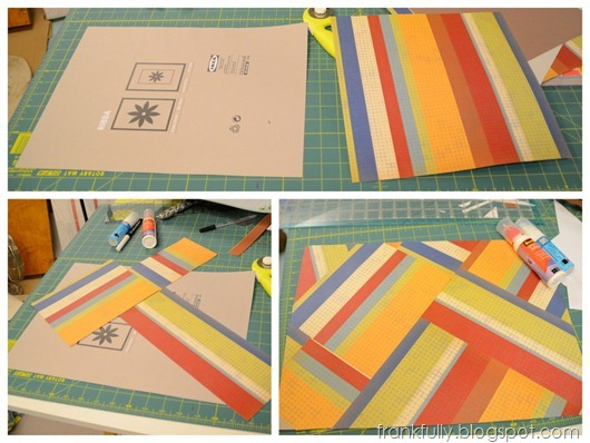 piecing together background paper