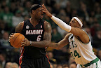 lebron james nba 130127 mia at bos 01 Boston Outlasts Miami in 2nd OT. LeBron Debuts Suede X PE!