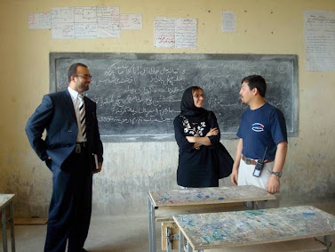 Kabul, Afghanistan: School visit by Gwen Neely during her work with UMCOR. Photo credit: Gwen Neely