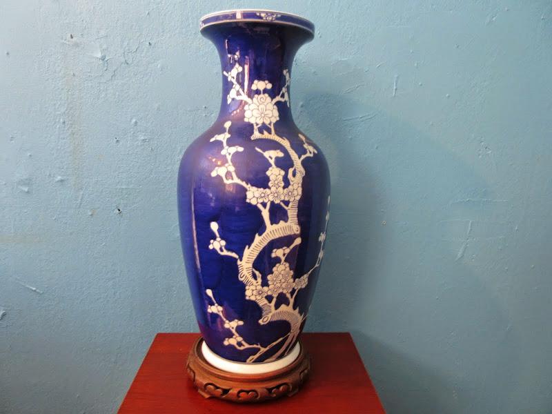 Blue and White Asian Vase