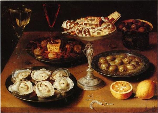 Osias Beert, Nature morte aux huîtres et pâtisserie