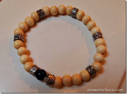Light Wood and Silver Bracelet
