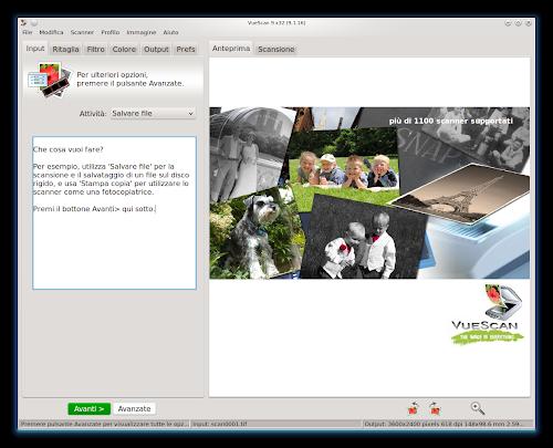 VueScan su Linux - KDE