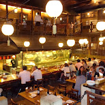 Gonpachi restaurant in Tokyo where Quentin Tarantino based his Kill Bill scene with the Crazy 88's on in Tokyo, Tokyo, Japan