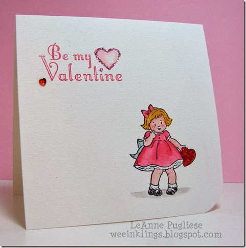 LeAnne Pugliese WeeInklings Greeting Card Kids Valentine Stampin Up
