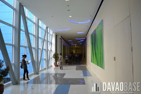 Inside the bridge to The Annex SM City Davao