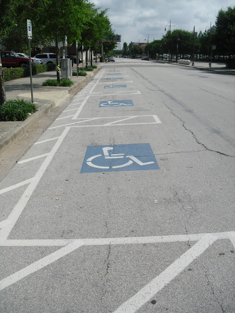 I was sent a very insightful email with reasons why one parking  configuration  angle in  has advantages to those with disabilities over the  more common. Parking Configurations for a Person with Disabilities