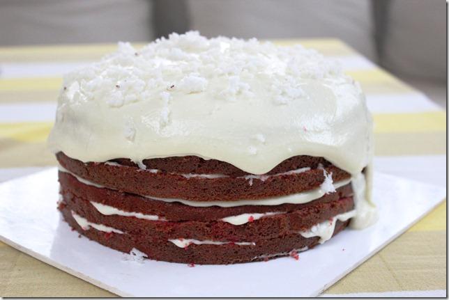 Maria Goretti's red velvet cake