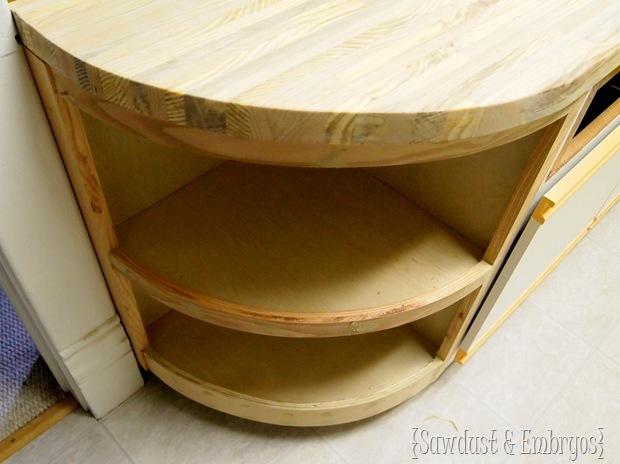 Custom Bathroom Vanity and Butcher Block Counter {Sawdust and Embryos}