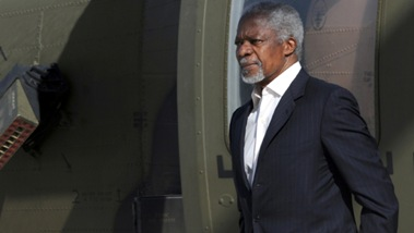 Kofi Annan appeals to Syrian ally Iran for peace as activists report fresh violence