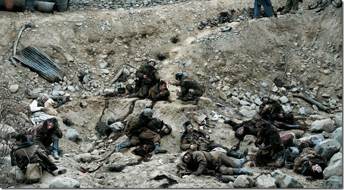 jeff wall_Dead Troops Talk (A vision after an ambush of a Red Army patrol, near Moqor, Afghanistan, winter 1986) 1992