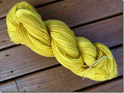 Gardenia yellow yarn