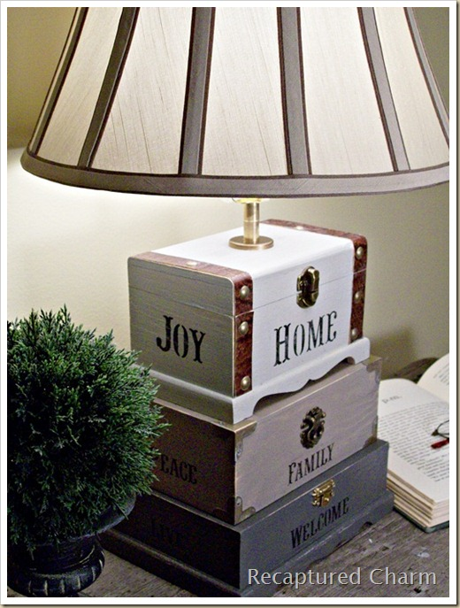 Dollar Store Trinket Box Lamp 039a