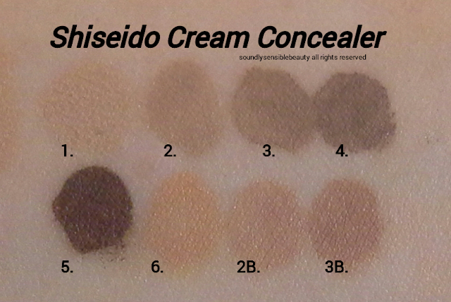 Shiseido Natural Finish Cream Concealer Review & Swatches of Shades
