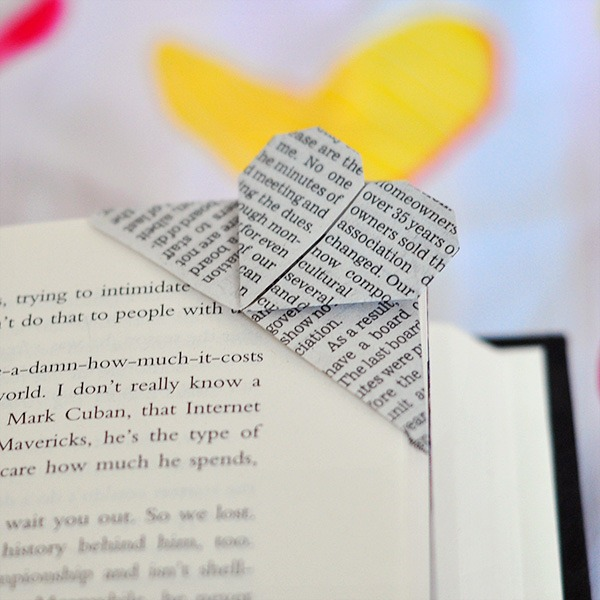 Corner Origami Heart Bookmark