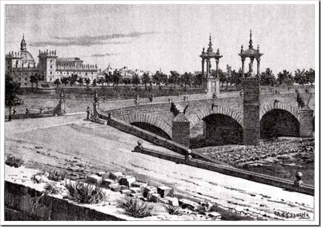 1880 litografia puente del real_antonio castelucho_museo de la ciudad
