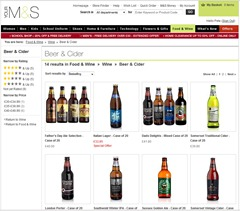 MnS wine 7 beer is navigated food and wine then wine and then beer