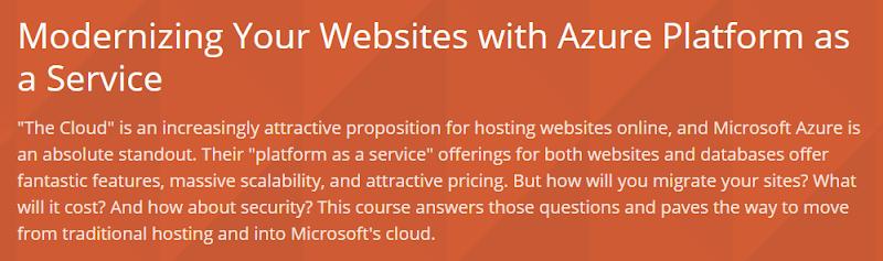 Modernizing Your Websites with Azure Platform as a Service