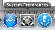 System Prefernces in the Dock