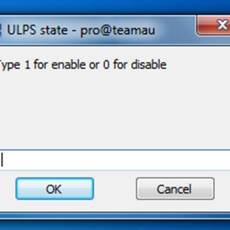 Handy tool to disable/enable ULPS (Ultra Low Power State) by youngpro22