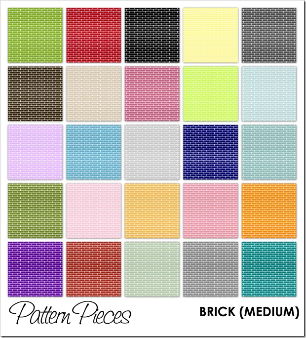 IMAGE - Pattern Pieces - Brick (Medium)