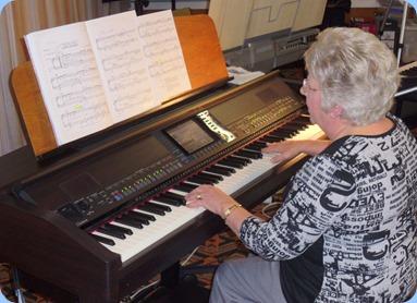 Barbara Powell played her last song on the Club's Yamaha Clavinova CVP-509