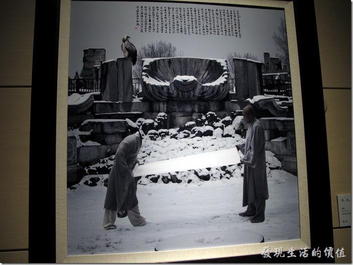 上海-中華藝術宮。好有趣的圖片,還有一隻禿鷹。