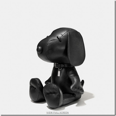 COACH X Peanuts medium leather snoopy doll - USD 750 - black