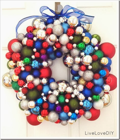 Christmas ornament wreath colorful