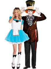 Alice and Mad Hatter costumes
