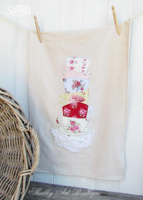 Shabby Art Boutique tea towel 2