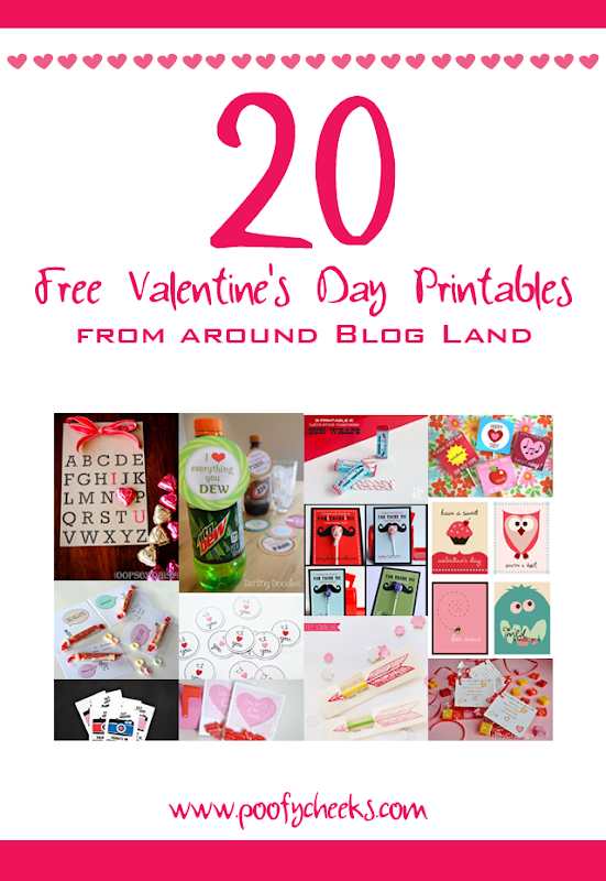 20 Free V-Day Printables from around Blog Land