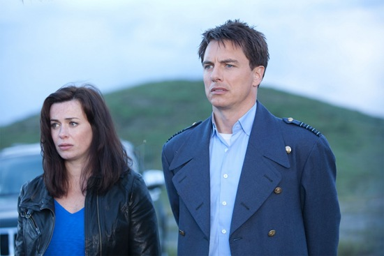 Gwen Cooper and Captain Jack Harkness in Torchwood Miracle Day Immortal Sins