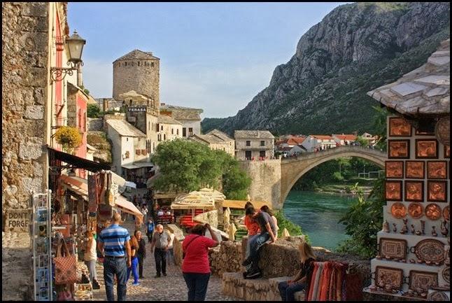 Stari Grad Mostar over Neretva River