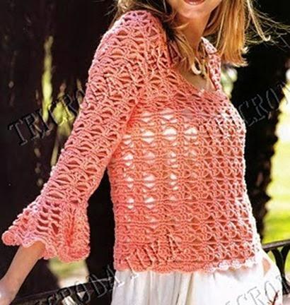 jersey rosa manga volante patron crochet0