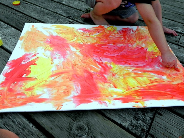 create a fingerpaint masterpiece