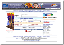 Arizona vital records website